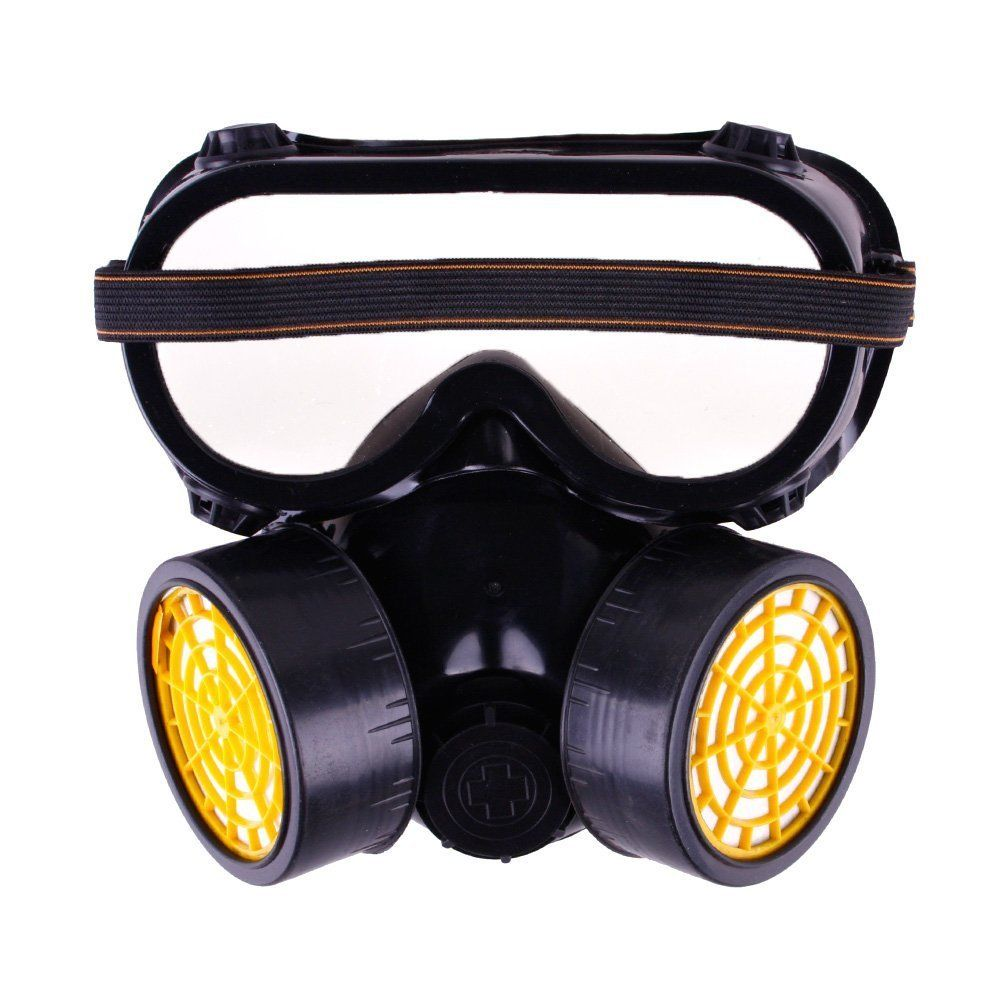 Industrial Chemical Gas Anti-Dust Respirator Mask With Goggles