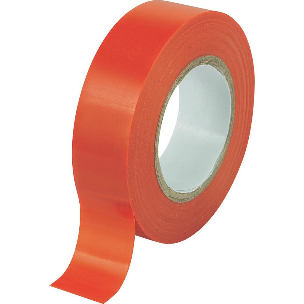 10 rolls x Red PVC Electrical Tape 18 mm x 20m