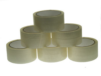 6x 66m Clear Parcel Tape 48mm 2""