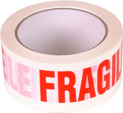 12x 66m Fragile Parcel Tape 48mm 2""