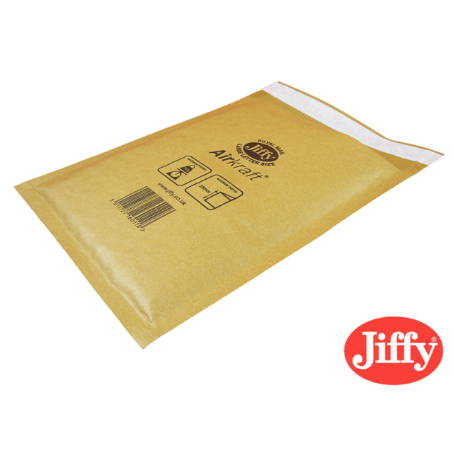 100x Jiffy AirKraft Bag Jiffylite Gold 115x195mm JL-00
