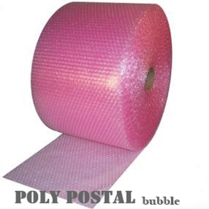 "50m Pink Small Bubble Wrap 500mm (20"") width"