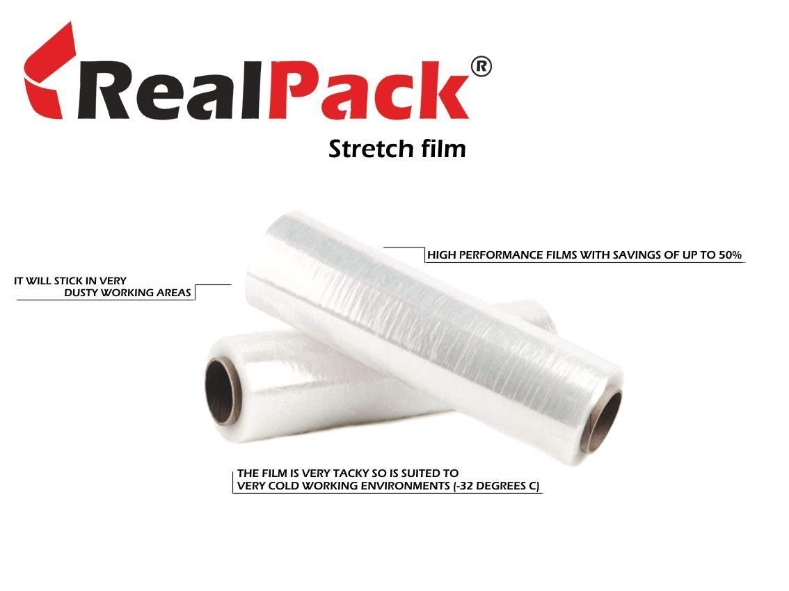6x 400mm 250m Clear Standart Core Pallet Wrap - REALAPACK