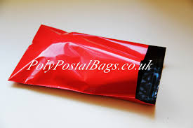 "100x Red Mailing Bags 6.5x9"" - 165x230mm +Lip"