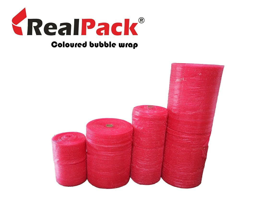 "50m Red Small Bubble Wrap 300mm (12"") width"