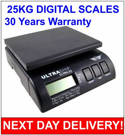 Ultraship 55lb 25kg DIGITAL PARCEL POSTAL WEIGHTING SCALE